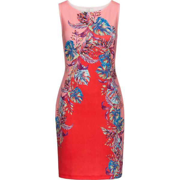 6d163d3bcc Sukienka w kwiatowy deseń bonprix czerwono-różowo-niebieski w kwiaty ...