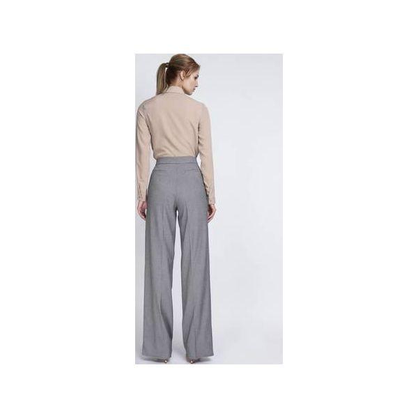 65dda6d2417b6b KLASYCZNE SPODNIE Z WYSOKIM STANEM, SD111 - Spodnie materiałowe ...
