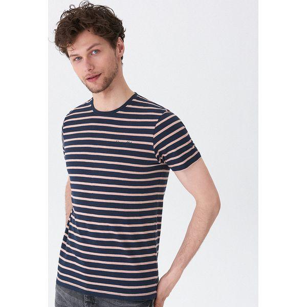 42615671b8aa9 T-shirt w paski - Różowy - T-shirty męskie marki House. Za 39.99 zł ...