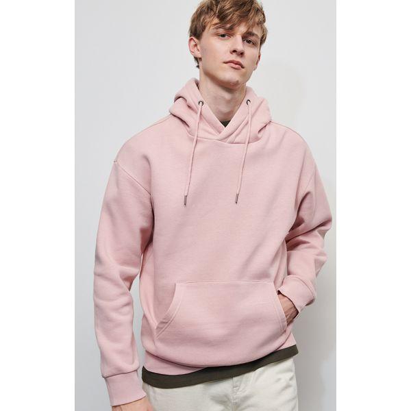 Męska bluza z bawełny jasnoróżowa