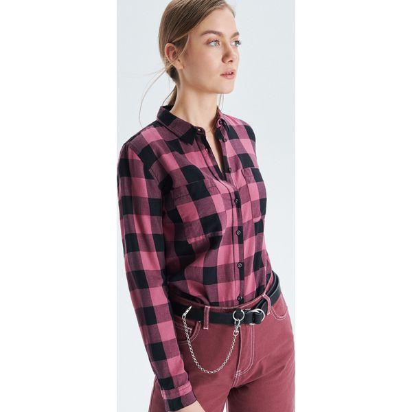1e4261e70ebf Koszula w kratę - Pomarańczowy - Koszule damskie marki Cropp. W ...