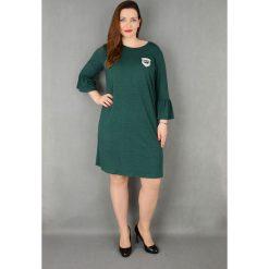 8df696d285 Elegancka sukienka rękaw falbanka suże rozmiary dla puszystych. Sukienki  damskie marki Moda Size Plus Iwanek