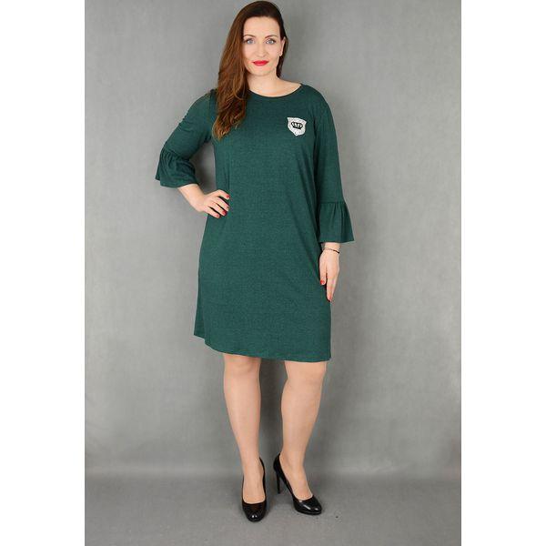 1d0b489a36 Elegancka sukienka rękaw falbanka suże rozmiary dla puszystych ...
