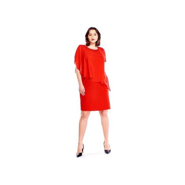 2ee96297c9e185 Sukienka ze zwiewną, asymetryczną bluzką - Sukienki damskie Bird. Za ...