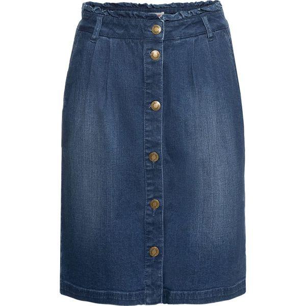 17049ba6 Miękka spódnica dżinsowa ze stretchem bonprix niebieski