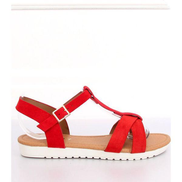 Sandałki damskie czerwone X567 Chine Se Red