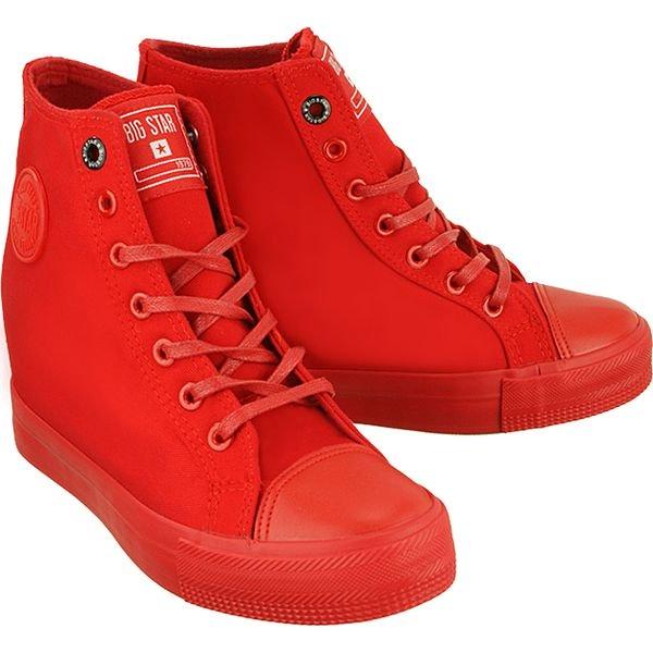 BIG STAR AA274A088 czerwony, trampki, sneakersy damskie