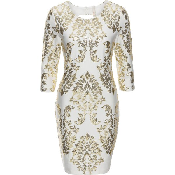 b8061a24b2 Sukienka z cekinami bonprix biało-złoty - Sukienki damskie marki ...