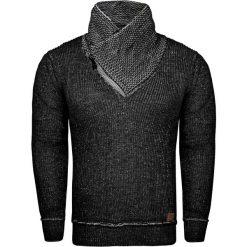 Sweter męski z stójką czarny Recea