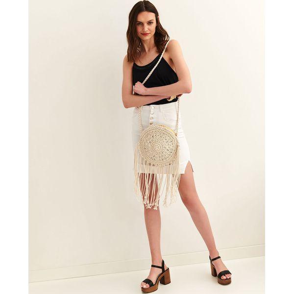 Spódnica regularna damska gładka Białe spódnice damskie