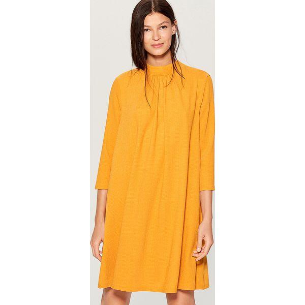 a27fa1e33a Sukienka z wiązaniem na plecach - Żółty - Sukienki damskie marki ...