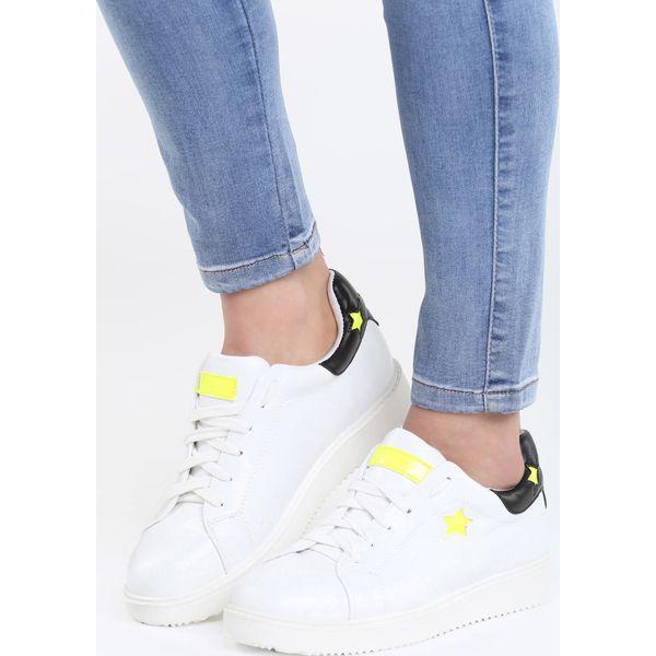 Biało Limonkowe Buty Sportowe Friend Of Mine