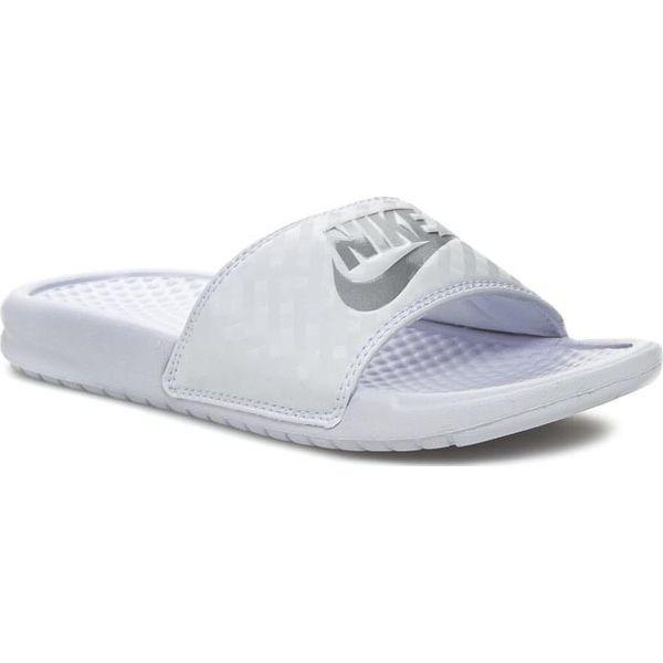 3effe5aed Klapki NIKE - Benassi Jdi 343881 102 White/Metallic Silver - Klapki damskie  marki Nike. Za 109.00 zł. - Klapki damskie - Obuwie letnie damskie - Obuwie  ...