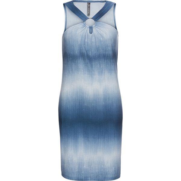 7519582da7 Sukienka shirtowa z materiału w optyce dżinsu bonprix niebieski ...