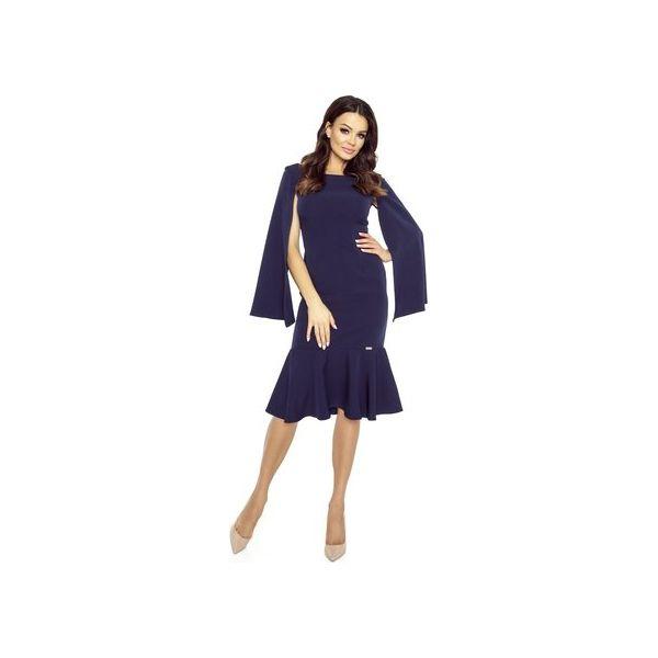 a56d982a5c Koktajlowa sukienka z rozcinanymi rękawami - Sukienki damskie marki ...