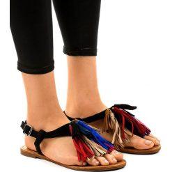 Sandały na obcasie z frędzlami Sandały damskie Kolekcja