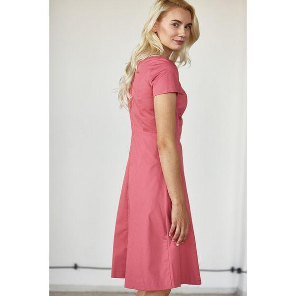 Sukienka Asteria różowa – krótki rękaw 34 różowy