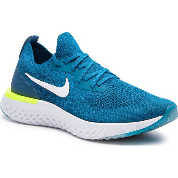 Buty NIKE Epic React Flyknit AQ0067 302 Green AbyssWhite Blue Force