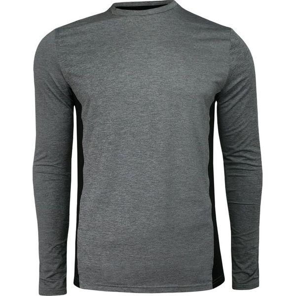 Popielato Szary T shirt (Koszulka) Długi Rękaw, Longsleeve
