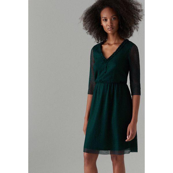 5ac3862559 Sukienka z rękawami 3 4 - Khaki - Sukienki damskie marki Mohito. Za ...