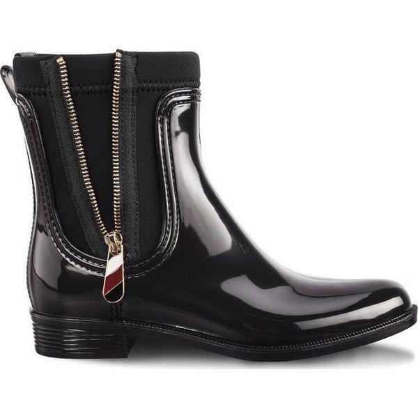 1d619258df459 Tommy Hilfiger Kalosze Damskie Material Mix Rain Boots 990 Czarne r ...