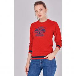 c2bd7bb93 ... Kolekcja lato 2019. -67%. Bluza w kolorze czerwonym. Czerwone bluzy z  nadrukiem damskie marki Jimmy Sanders, l.