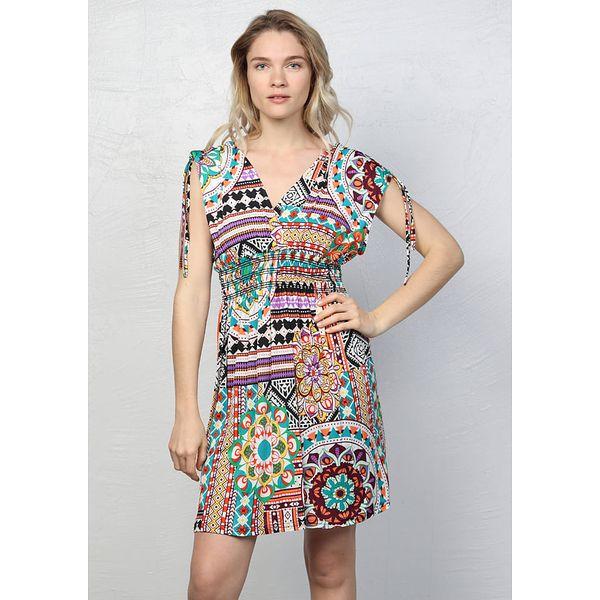 6f0c97c794 Sukienka w kolorze fioletowym ze wzorem - Sukienki damskie marki ...