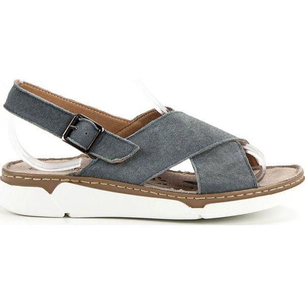 Filippo sandały damskie bez wzorów na koturnie casual z