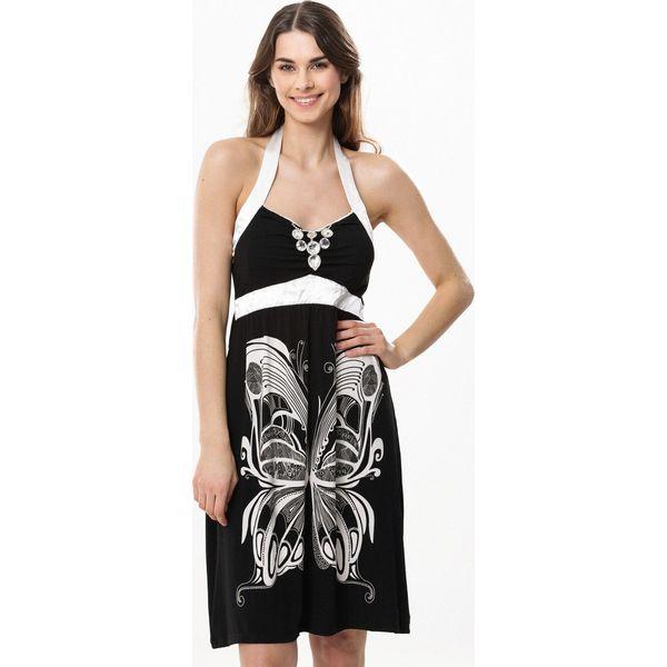 5b99871fde Czarno-Biała Sukienka Supposed - Sukienki damskie marki Born2be. Za ...