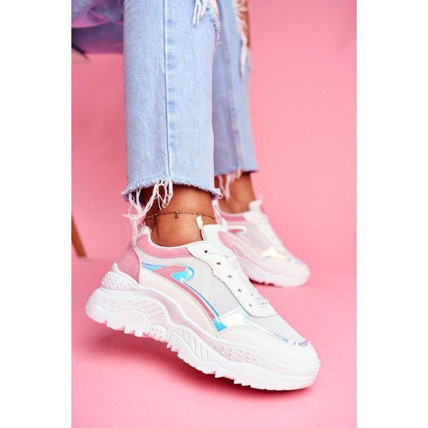 BUGO Różowo białe buty sportowe damskie 878