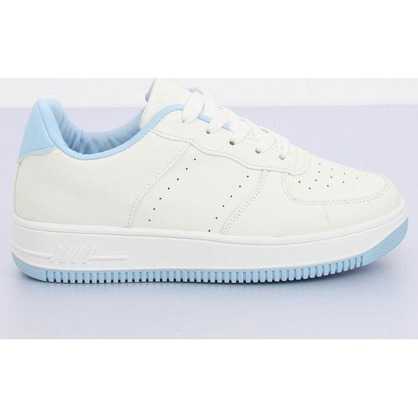 Buty sportowe biało niebieskie LV75P L.BLUE