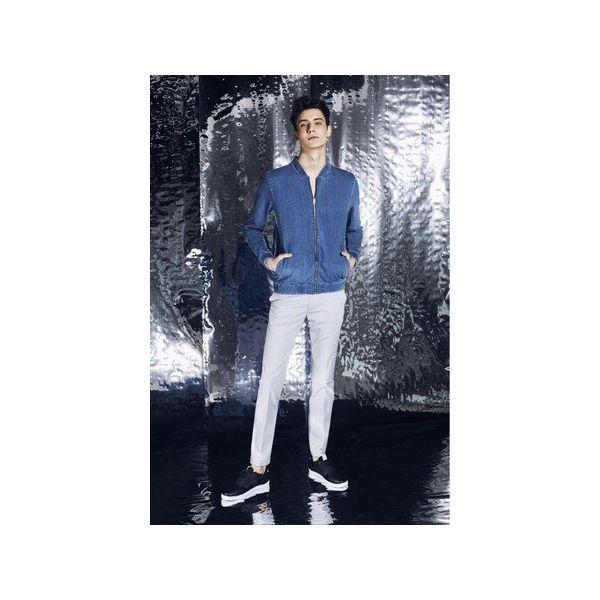 93134a1c75becf Bluza jeansowa aka Jeans Bomber Jacket Błękitna - Bluzy bez kaptura ...