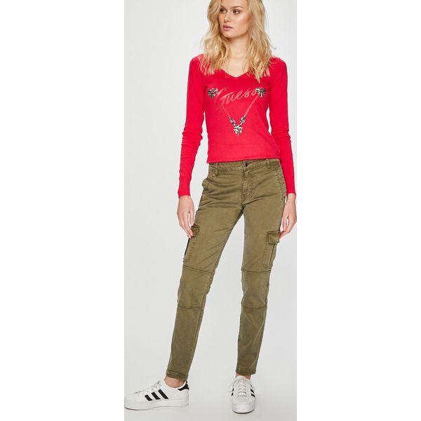 01b0115a4a0cc Wyprzedaż - spodnie i legginsy damskie marki Guess Jeans - Kolekcja wiosna  2019 - Sklep Super Express