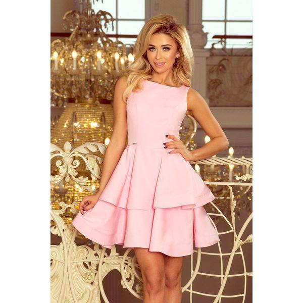ff4ce4402a6bc6 Sukienka Cristina Rozkloszowana Pastelowy Róż - Sukienki damskie ...