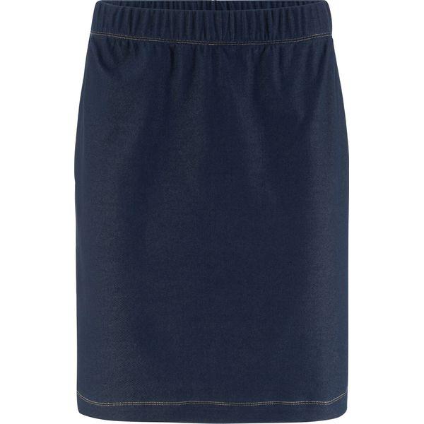 5b94ac0e Spódnica shirtowa ze stretchem w optyce denimu bonprix niebieski