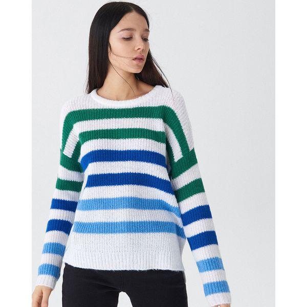 563326712a474 Sweter w kolorowe paski - Paski - Swetry klasyczne damskie marki ...
