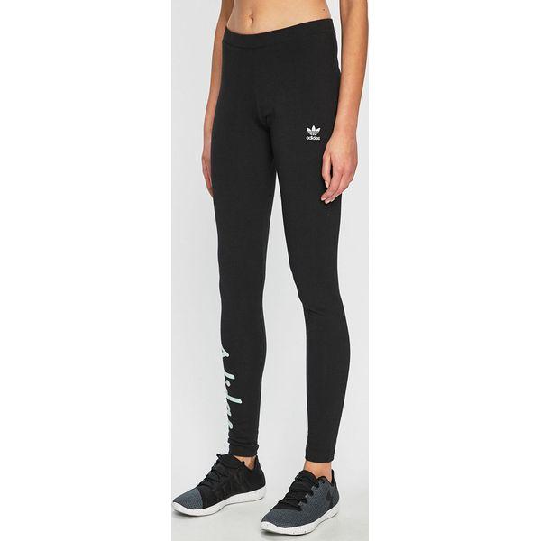 d87e0deeb45eed adidas Originals - Legginsy - Czarne legginsy damskie adidas Originals, s,  bez wzorów, z bawełny. W wyprzedaży za 99.90 zł. - Legginsy damskie -  Spodnie i ...