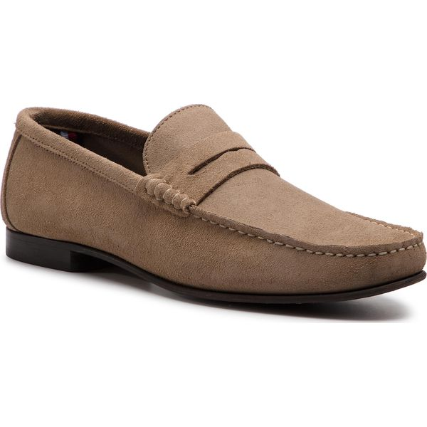 185778323dcc6 Mokasyny TOMMY HILFIGER - Core Suede Loafer FM0FM02106 Taupe Grey ...