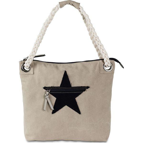 7374828ce5773 Torba shopper z motywem gwiazdy bonprix jasny piaskowy - Shopper bag ...