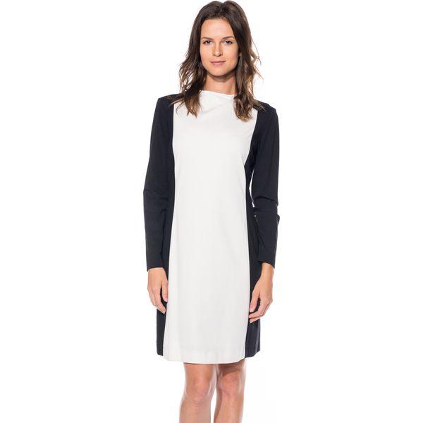 48b4a8b0c6 Czarno-biała sukienka BIALCON - Białe sukienki damskie marki BIALCON ...