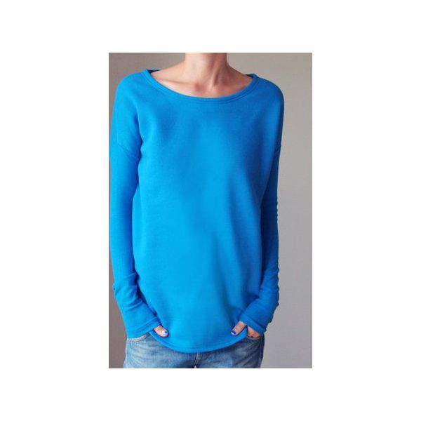 284e62645eba23 Wąski gruby rękaw niebieski bluza oversize - Bluzy bez kaptura damskie  marki One mug a day. Za 189.00 zł. - Bluzy bez kaptura damskie - Bluzy  damskie ...