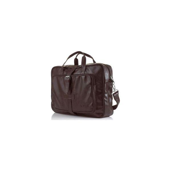 27d060d6040ae Brązowa torba męska na ramię Solier S10 vintage - Torby męskie na ...