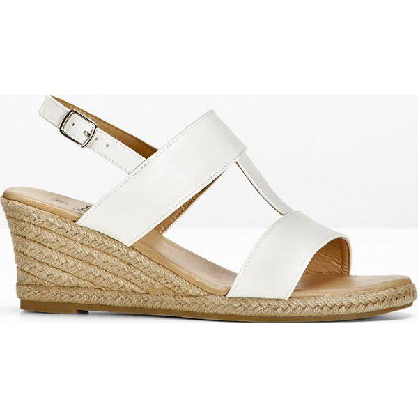 c921d716 Sandały na koturnie bonprix biały - Sandały damskie bonprix. Za ...