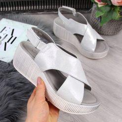 Sandały damskie srebrny kolekcja obuwia wiosna 2020