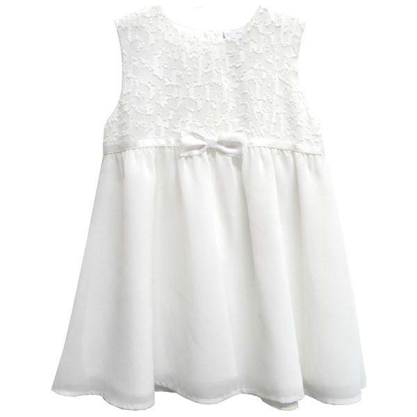 f2c673a6a5 Topo Sukienka Dziewczęca Z Kokardką 74 Biała - Sukienki dziewczęce ...