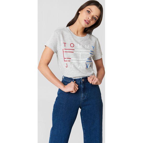 09736e12a Tommy Hilfiger T-shirt z logo Tommy - Grey - T-shirty damskie Tommy ...