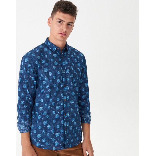 Męska Koszula w Tropikalny Wzór