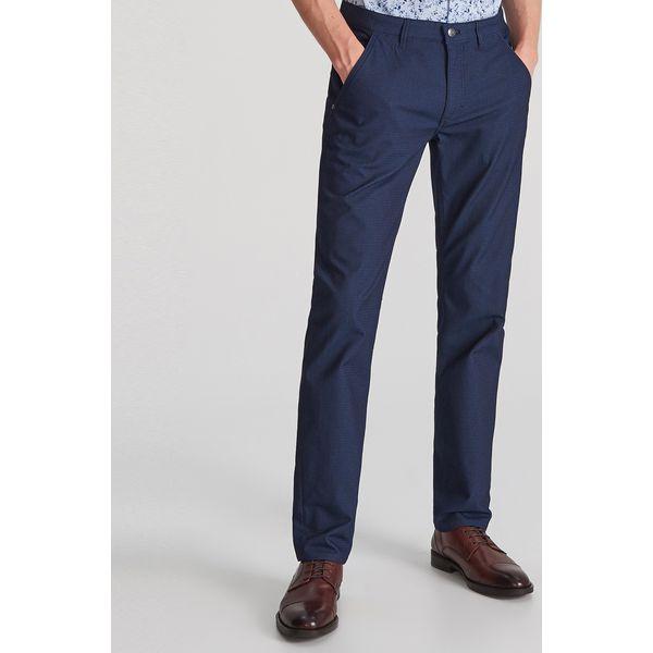 Spodnie z drobnym wzorem Granatowy