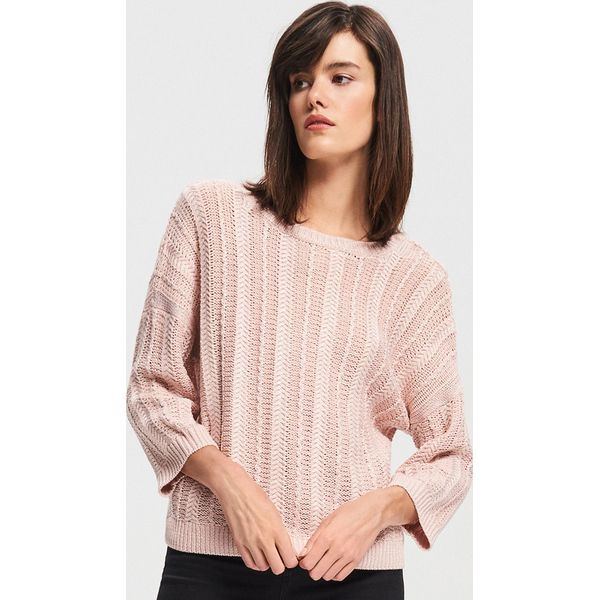 928ea2e9 Sweter z szerokimi rękawami - Różowy