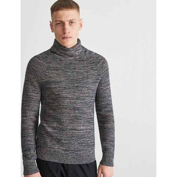 e2b5ced6286df Sweter z bawełny organicznej - Granatowy - Swetry męskie marki ...